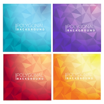 Polygonal backgrounds collection