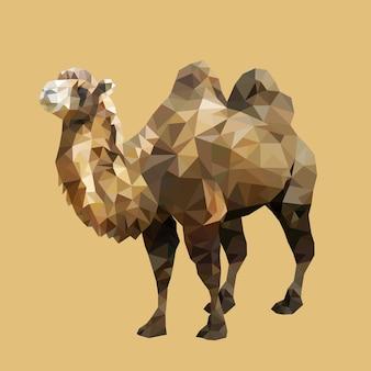 Полигональный бактрен верблюд