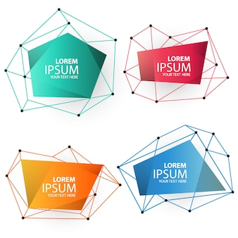 Polygonal banner set