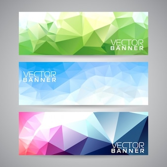 Polygonal banners collection