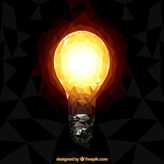 Прямолинейное яркий свет лампы