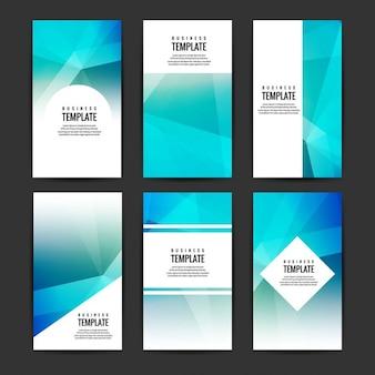 Polygonal brochure collection
