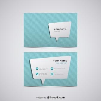 Polygonal bubble speech business card Free Vector