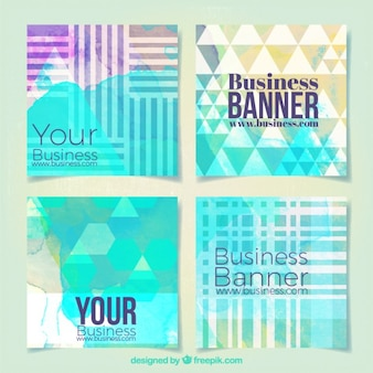 Polygonal business banners