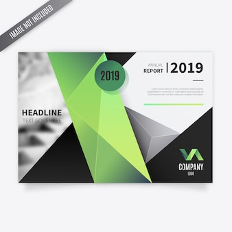 Polygonal business brochure