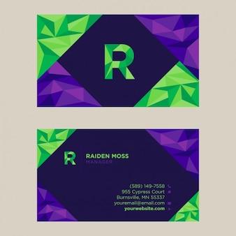 Polygonal business card design