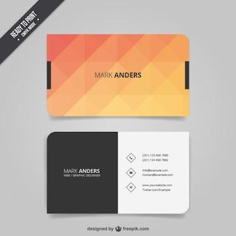 Polygonal визитная карточка