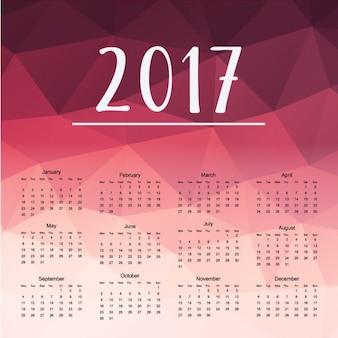 Polygonal calendar design Free Vector