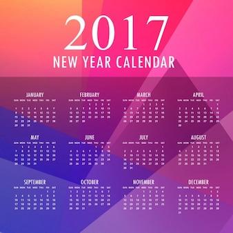2017 design colorato nuovo anno con forme astratte