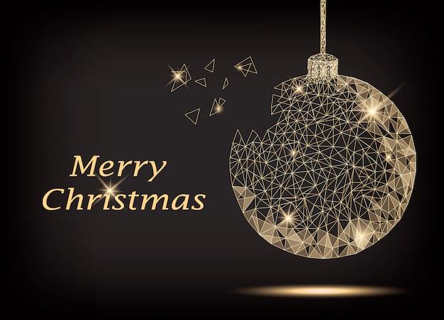 Polygonal christmas tree ball
