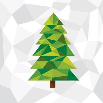 Прямолинейное новогодняя елка