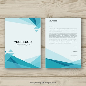 Polygonal corporate brochure