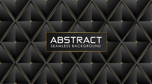 Polygonal dark background with shiny golden abstract lines