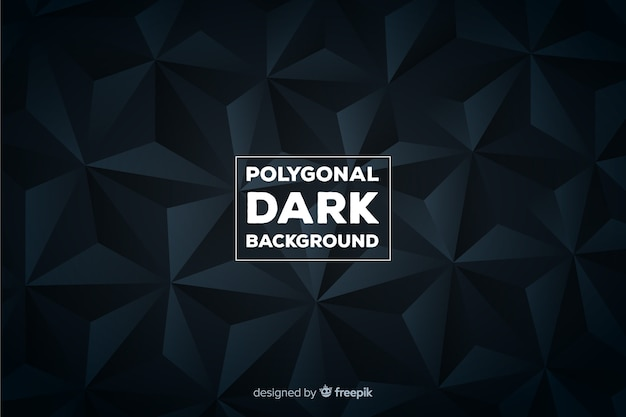Polygonal dark background