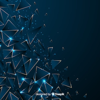 Polygonal dark blue background