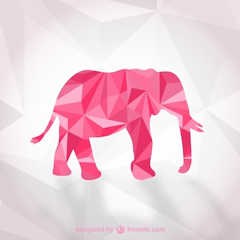 Polygonal elephant vector