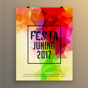 Polygonal festa junina poster