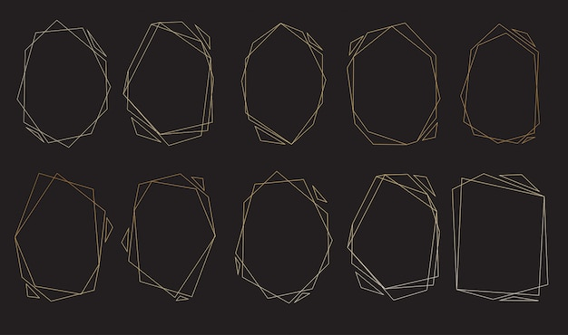 Polygonal frames set.