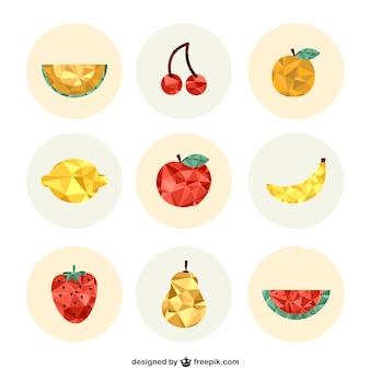 Polygonal fruits collection