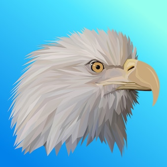 Polygonal geometric eagle pop art vector illustration
