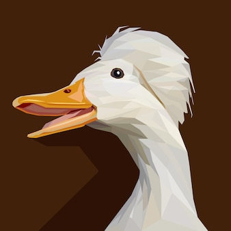 Polygonal geometric of goose vector illustration