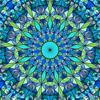 Polygonal geometrical colorful circular mosaic mandala background