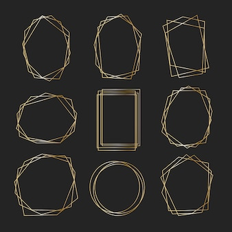 Polygonal golden frame collection