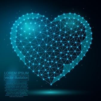 Polygonal heart abstract