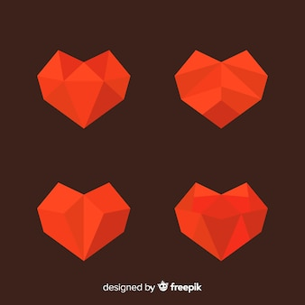 Polygonal heart collection