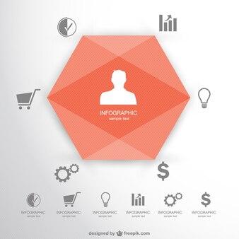 Libero infogaphic 3d stile origamy