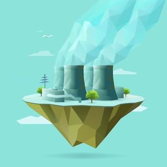 Polygonal illustration of nuclear power