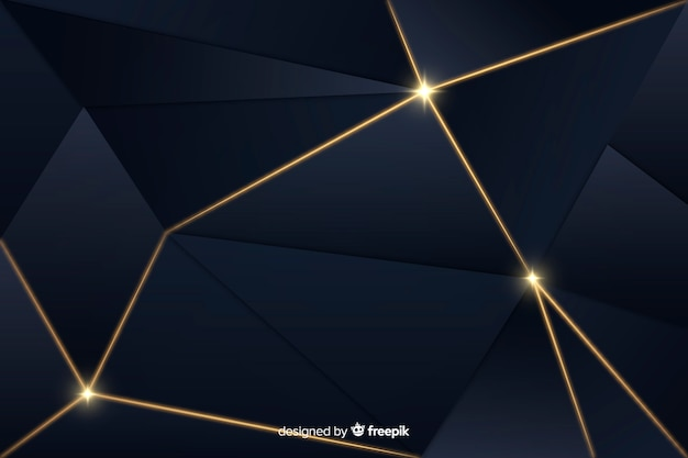Polygonal luxury dark background