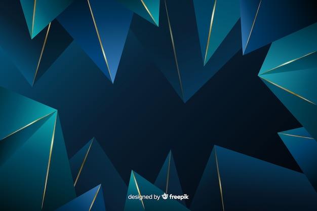 Polygonal luxury dark background
