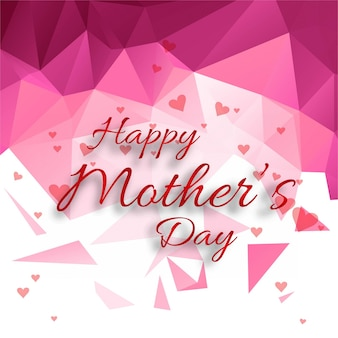 Polygonal mothers day background