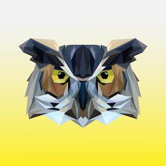 Polygonal owl head