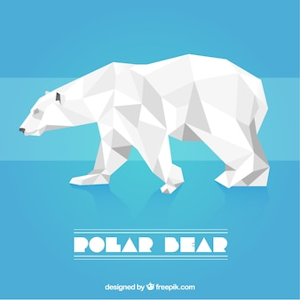 Polygonal polar bear