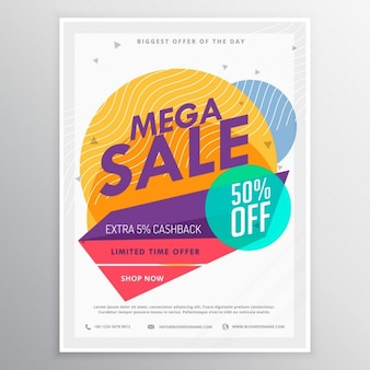 Polygonal poster for discounts