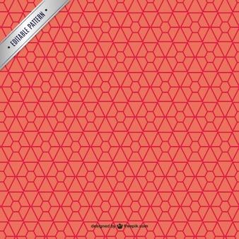 다각형 레드 패턴