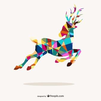 Polygonal reindeer