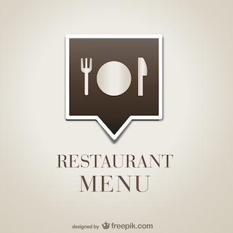Polygonal restaurant menu