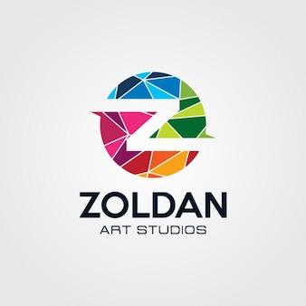 Polygonal round logo