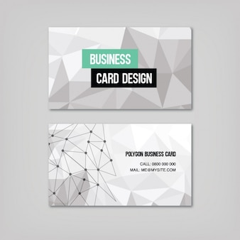 Polygonal shapes business card