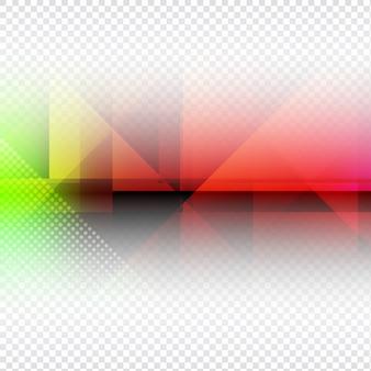 Disegno del poligono colorato su sfondo trasparente