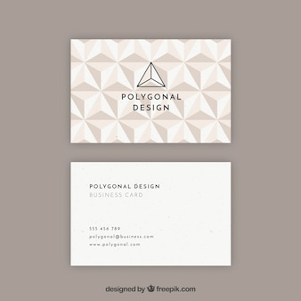 Polygonal sophisticated card