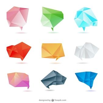 Design set di carta origami vettore