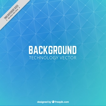 Polygonal technological background Free Vector