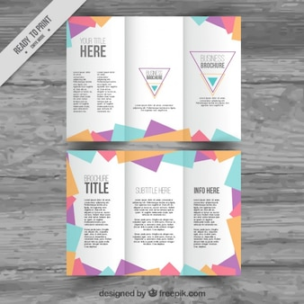 Polygonal trifold template
