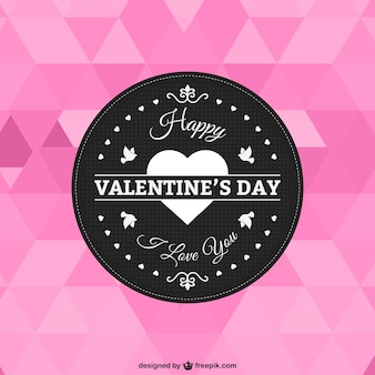 Polygonal valentine's day card
