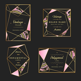 Polygonal Vintage Frame & Logo Collection