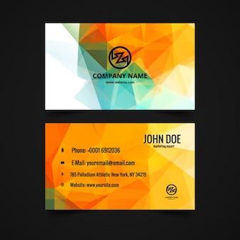 Polygonal visiting card